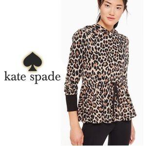 Kate Spade ♠️ Leopard Ruffle Hoodie ♠️